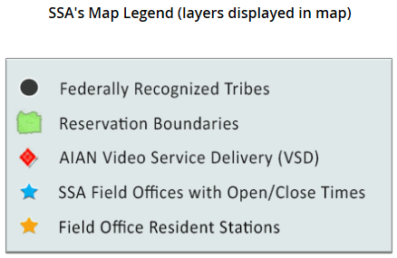 Screenshot of the AIAN map legend
